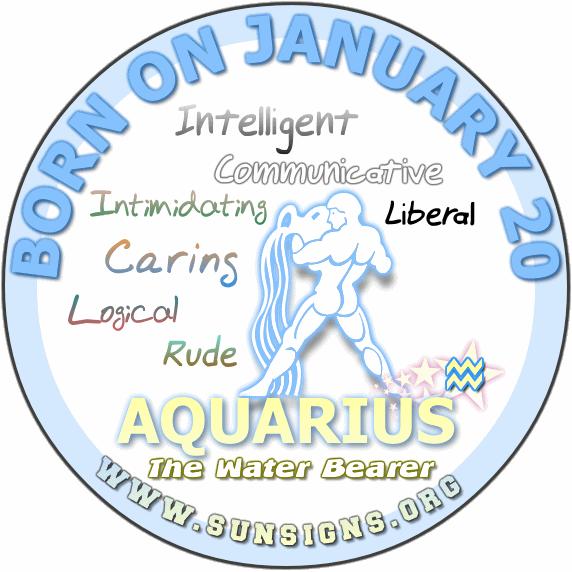 February 20 zodiac clipart black and white download January 20 - Aquarius Birthday Horoscope Meanings & Personality ... clipart black and white download