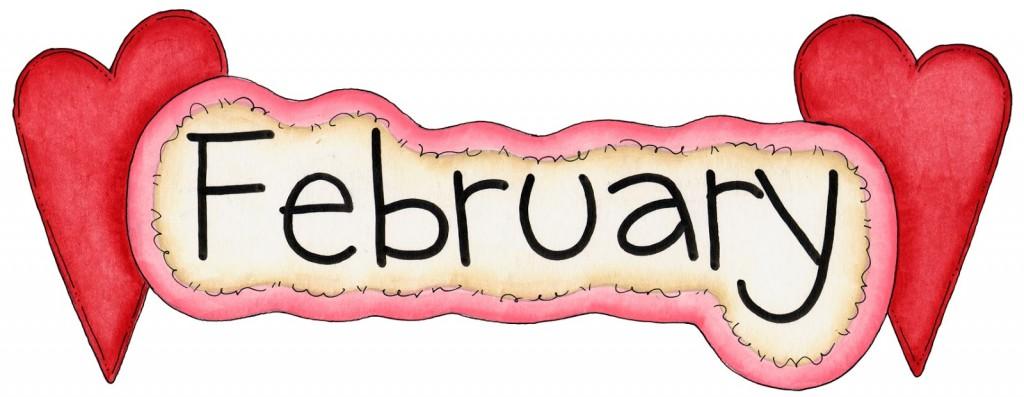 February 2015 calendar clipart