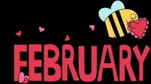 February 2015 calendar clipart black and white Customized Calendar - February - Valle Verde Children's Center black and white