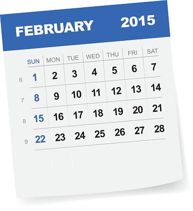 February 2015 calendar clipart vector freeuse library Calendar Page Clip Art, Vector Images & Illustrations - iStock vector freeuse library