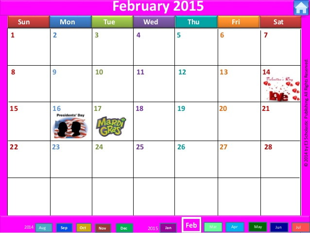 February 2015 calendar clipart picture library February 2015 calendar clipart - ClipartFest picture library