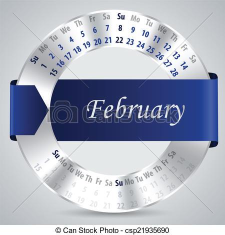 February 2015 calendar clipart svg royalty free EPS Vectors of 2015 february calendar design - 2015 calendar ... svg royalty free