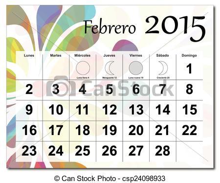 February 2015 calendar clipart free Clipart Vector of EPS10 file. February 2015 calendar. csp24099054 ... free