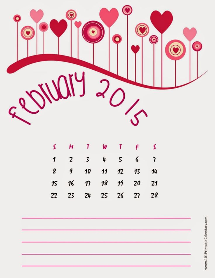 February 2015 calendar page clipart clip freeuse library 1000+ images about Free Printable Calendar February 2015 on ... clip freeuse library