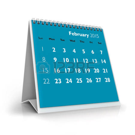 February 2015 calendar page clipart image freeuse download 0 February 2015 Stock Vector Illustration And Royalty Free ... image freeuse download