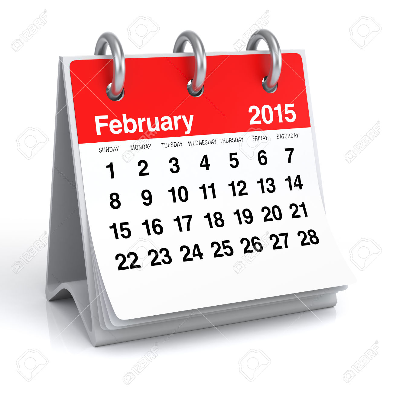 February 2015 calendar page clipart clip freeuse stock February 2015 - Calendar Stock Photo, Picture And Royalty Free ... clip freeuse stock