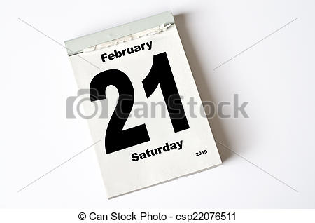 February 2015 calendar page clipart picture royalty free download Stock Photography of 21. February 2015 - calendar sheet 21 ... picture royalty free download