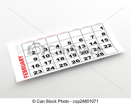 February 2015 calendar page clipart clipart royalty free stock Stock Illustrations of February 2015 calendar page - Ripped ... clipart royalty free stock