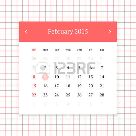 February 2015 calendar page clipart svg library 0 February 2015 Stock Vector Illustration And Royalty Free ... svg library