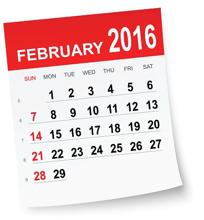 February 2016 calendar clipart svg transparent Clip Art, Vector Images & Illustrations - iStock svg transparent