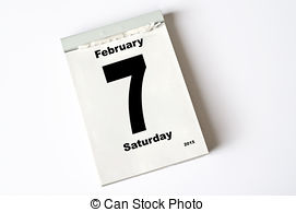February 7 calendar clipart jpg library library Stock Photo of 22. February 2015 - calendar sheet 22 February 2015 ... jpg library library