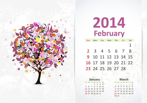February 7 calendar clipart png library library Free february 2014 calendar clipart - ClipartFest png library library