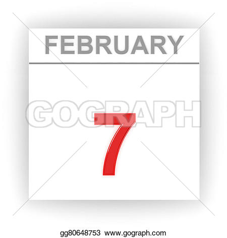 February 7 calendar clipart clip art library library Stock Illustration - February 7. day on the calendar. Clip Art ... clip art library library