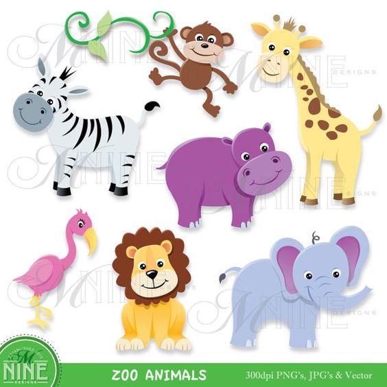 February animal clipart picture transparent ZOO ANIMAL Clip Art: Zoo Animals Clipart Download, Elephant ... picture transparent