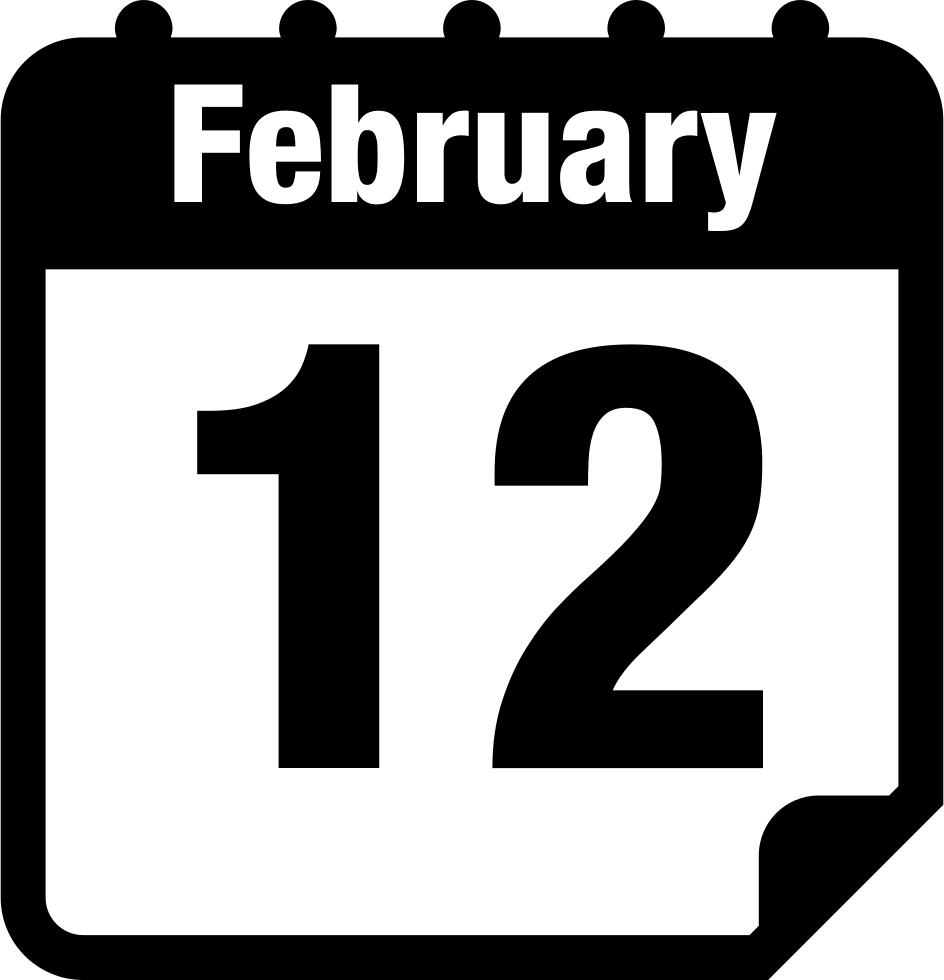 February calendar clip art graphic transparent February 12 Calendar Page Svg Png Icon Free Download (#6813 ... graphic transparent