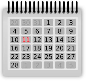 February calendar clip art jpg black and white February calendar clipart free all calendar clipartbold - Clipartix jpg black and white