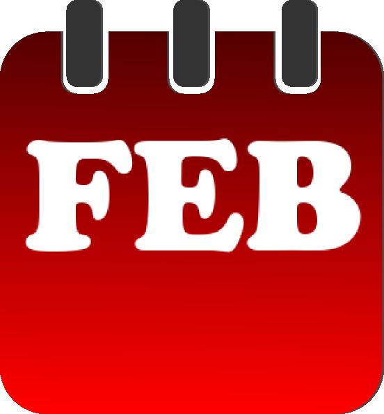 February calendar clipart image black and white February Calendar Heading Clipart - Jamesrigby.net image black and white
