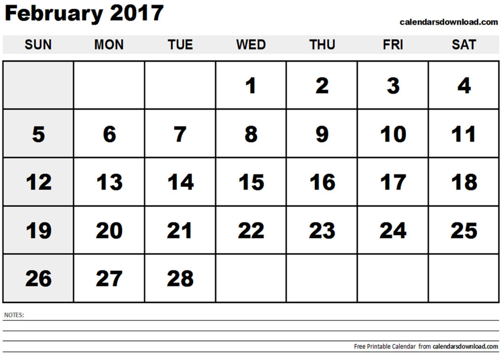 February calendar clipart graphic library stock February 2017 Calendar Clipart graphic library stock