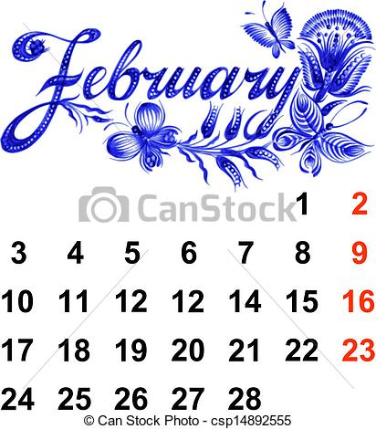 February calendar clipart png royalty free February Stock Illustrations. 60,781 February clip art images and ... png royalty free