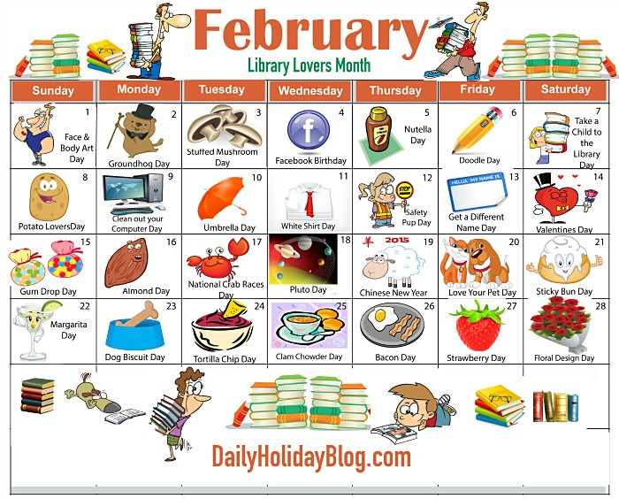 February calendar heading clipart picture black and white library 1000+ ideas about 2015 Holiday Calendar on Pinterest | National ... picture black and white library