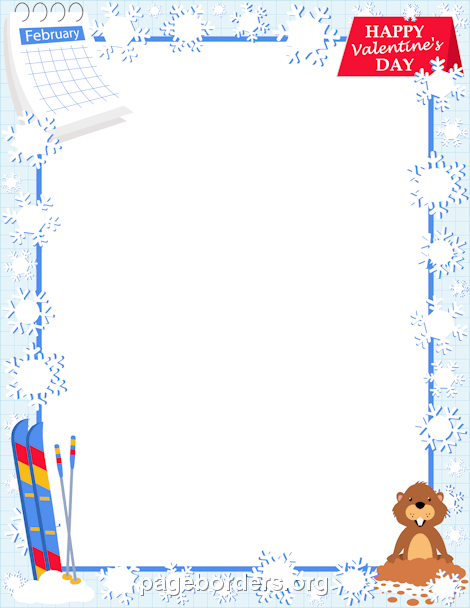 February clip art borders picture library February Border: Clip Art, Page Border, and Vector Graphics picture library