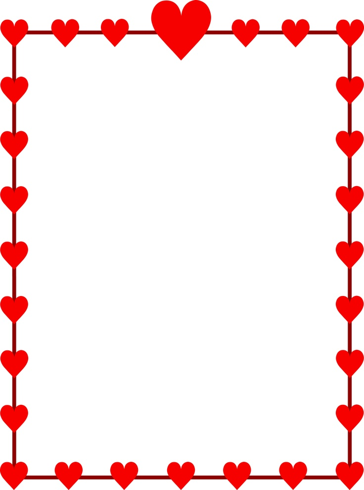 February clip art borders graphic royalty free library Valentine's day clip art borders - ClipartFest graphic royalty free library