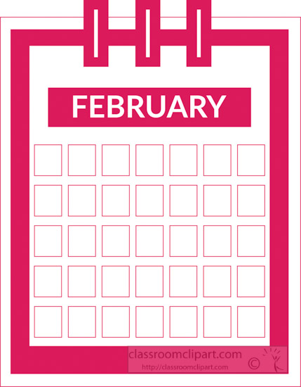 February clipart color banner royalty free Calendar : color-three-ring-desk-calendar-february-clipart ... banner royalty free
