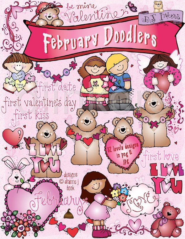 February clipart images clip library Month Of February Clip Art – Free Printable clip library