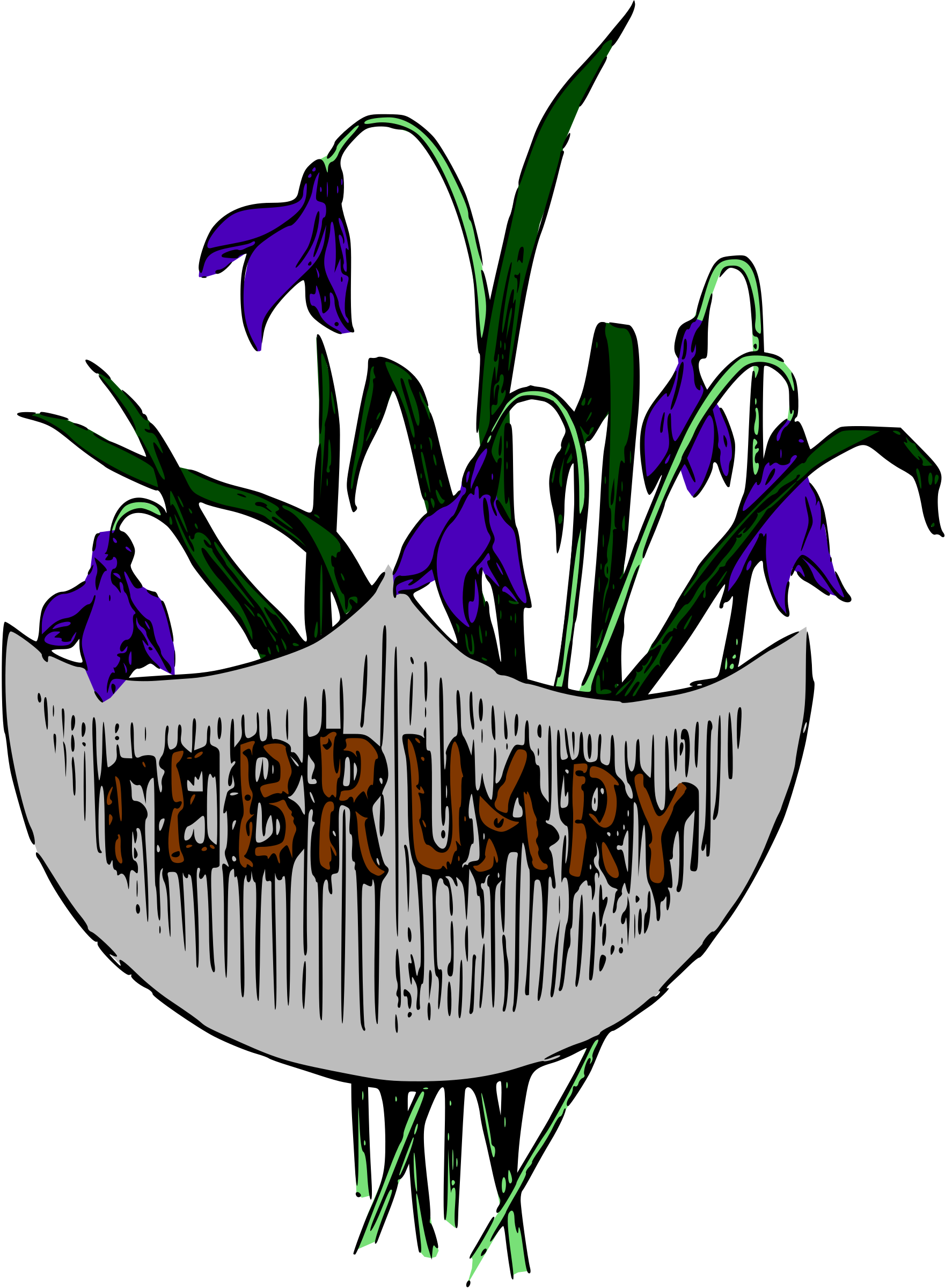 February month clip art clip art download Clipart - Illustrated months (February, colour) clip art download