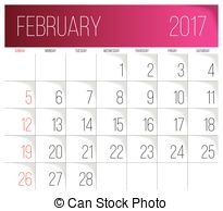February clipart images print for free black and white stock February Clip Art 2017 | Free Print Calendar for all Month black and white stock