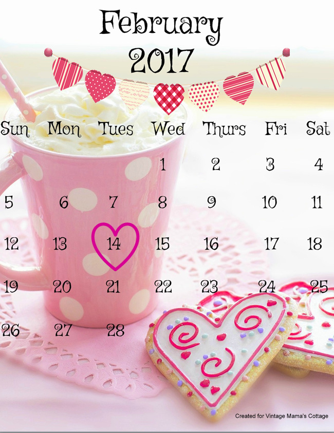 February clipart images print for free vector library library February 2017 FREE Printable Calendar vector library library