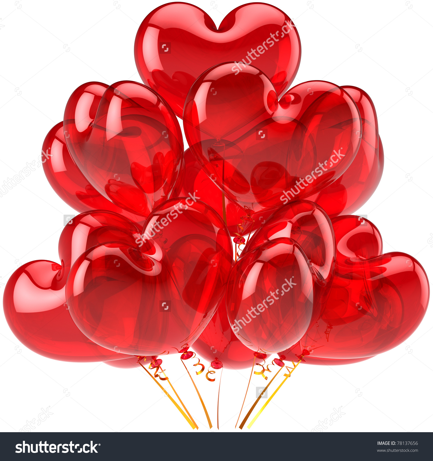 February hearts clip art jpg download Party Balloons Red Hearts Valentines Day Stock Illustration ... jpg download