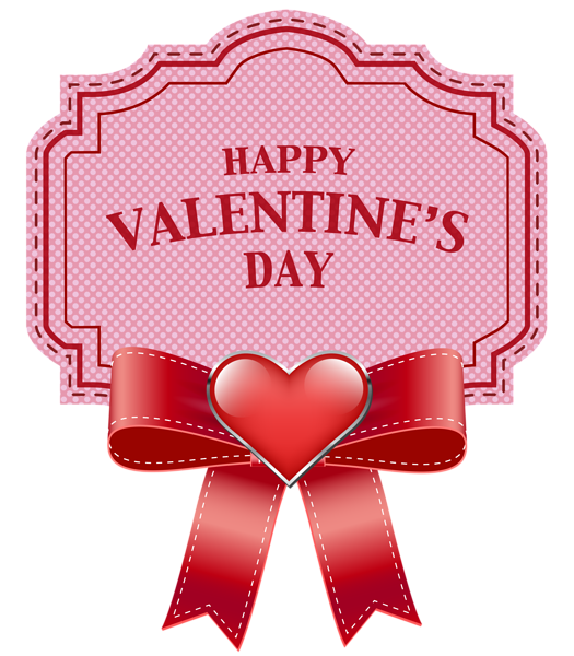 February hearts clipart images clip art free Happy Valentine's Day Label Transparent PNG Clip Art Image   CLIPART ... clip art free