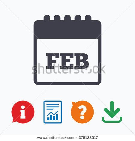 February month calendar clipart clipart royalty free Calendar Sign Icon February Month Symbol Stock Vector 254928208 ... clipart royalty free