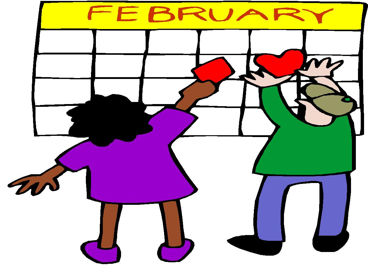 February month calendar clipart clipart black and white stock February Clip Art Free - ClipArt Best clipart black and white stock
