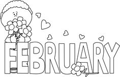 February month clipart picture royalty free library Black and white february clipart - ClipartFest picture royalty free library