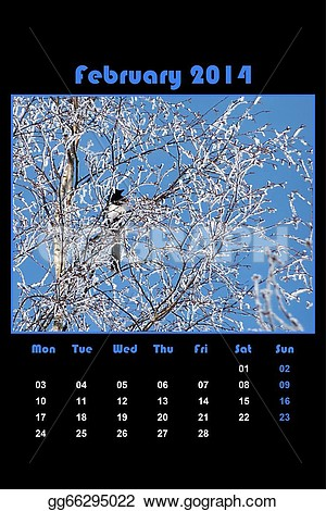 February nature clipart images