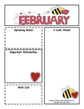 February newsletter clipart svg free library Learn and Grow Designs Website: February Preschool Newsletter ... svg free library