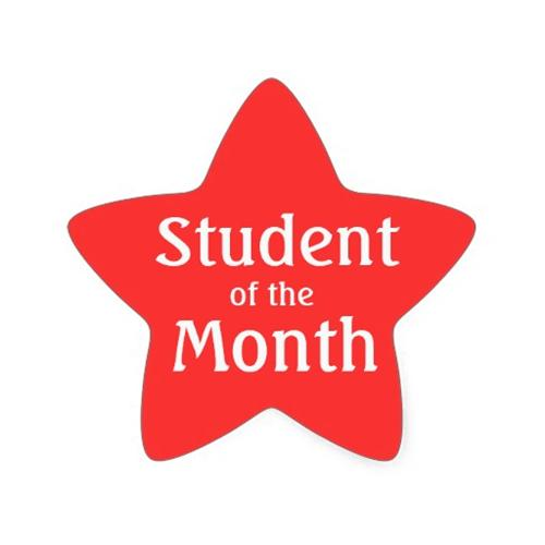 February student of the month clipart clip art black and white stock Student of the Month / February 2016 clip art black and white stock