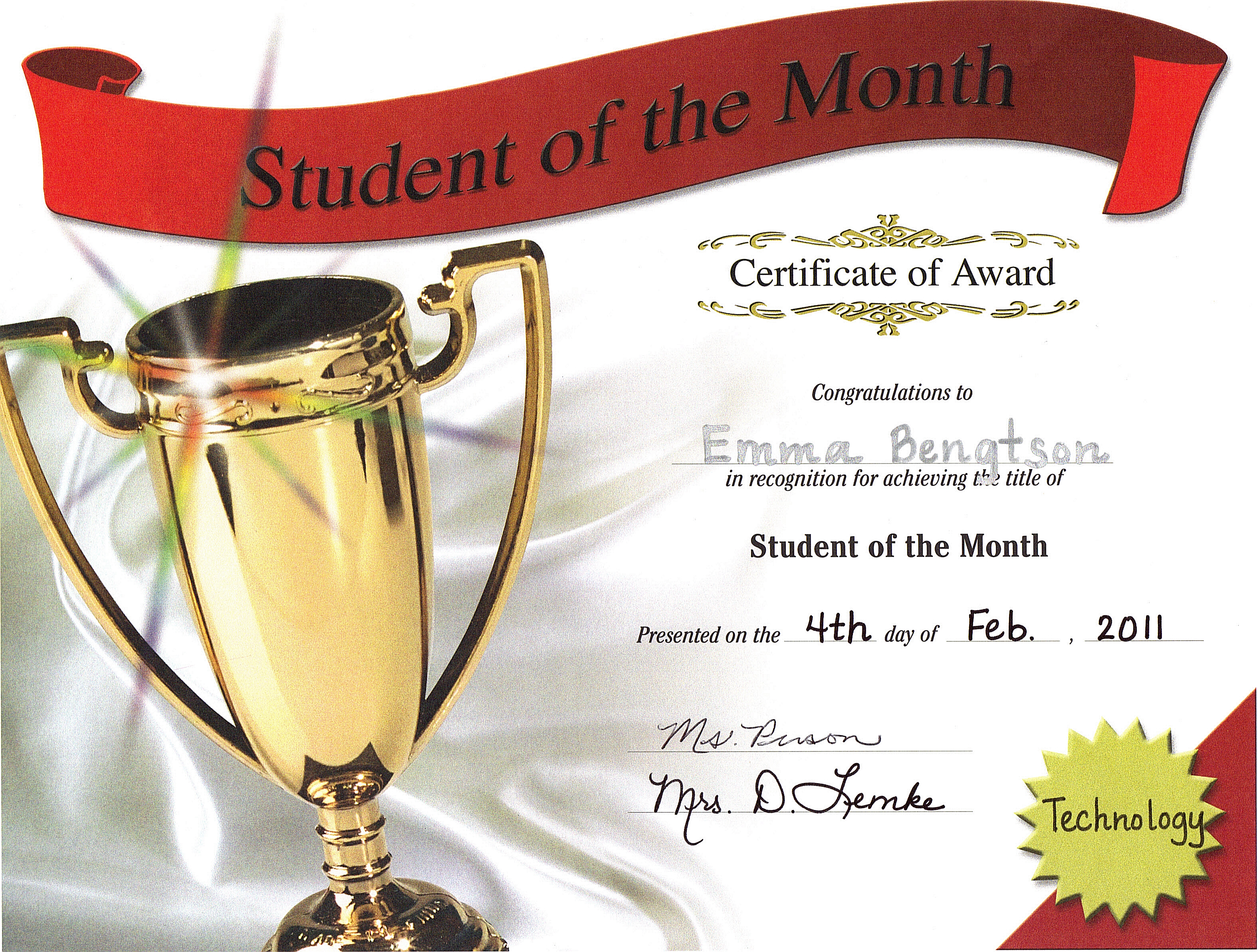 February student of the month clipart png royalty free download 20 | February | 2011 | Love and Sunshine png royalty free download