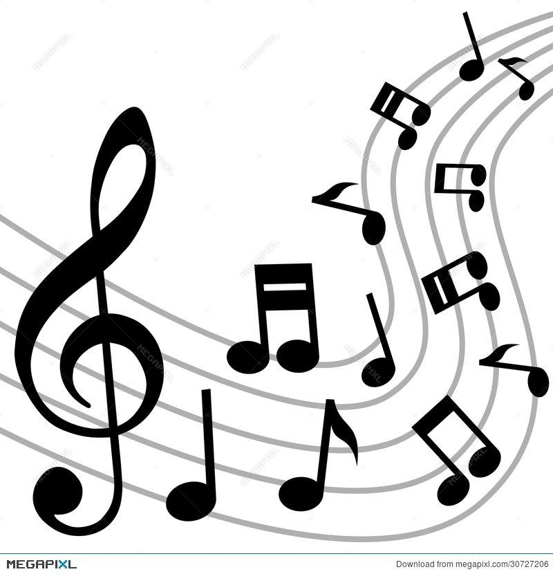 Februarymusic clipart vector freeuse Music Notes Background | Clip Art | Music notes background, Clip art ... vector freeuse