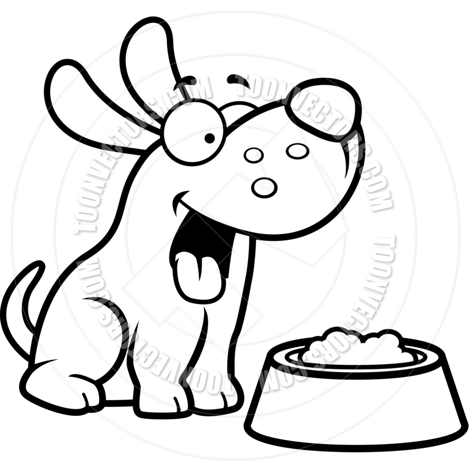 Feed dog clipart black and white free royalty free stock Dog Eating Clipart   Free download best Dog Eating Clipart on ... royalty free stock