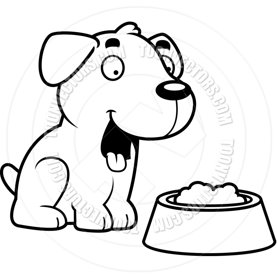 Feed dog clipart black and white free clip black and white library Dog Eating Clipart   Free download best Dog Eating Clipart on ... clip black and white library