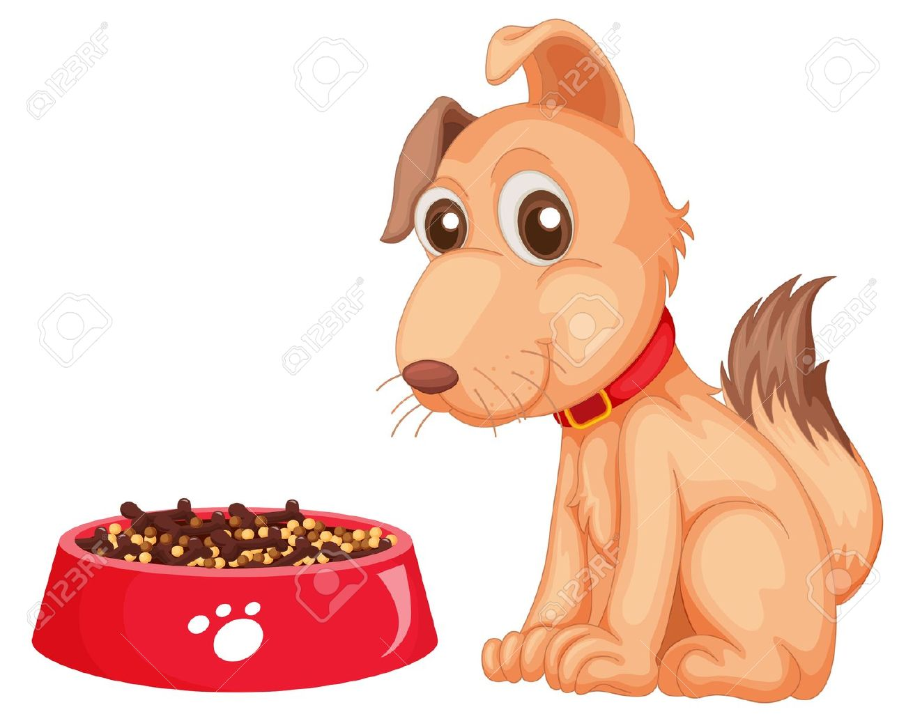 Feed the dog clipart picture black and white library Feed and water pets clipart - ClipartFox picture black and white library