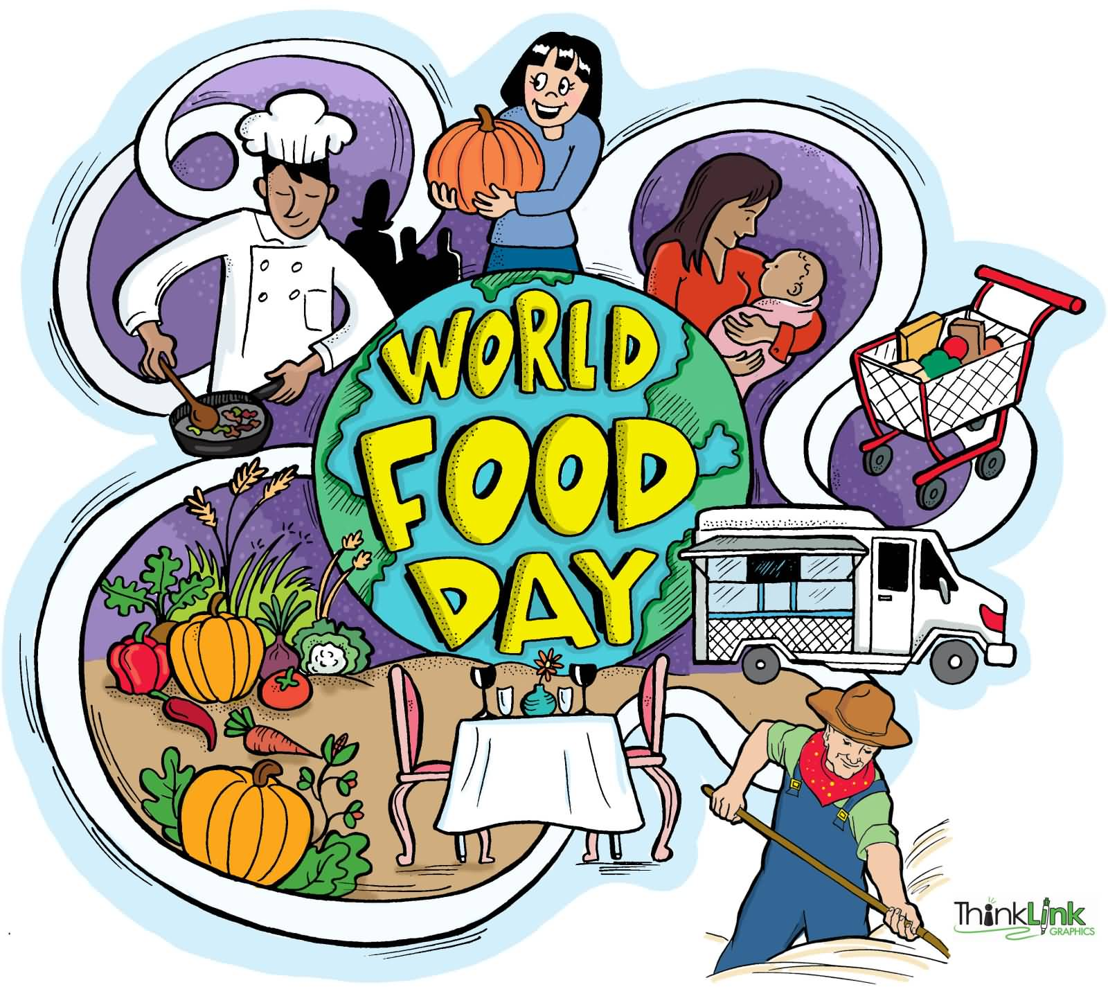 Feed the world clipart graphic transparent library 50 Beautiful Pictures Of World Food Day Wishes 2016 graphic transparent library