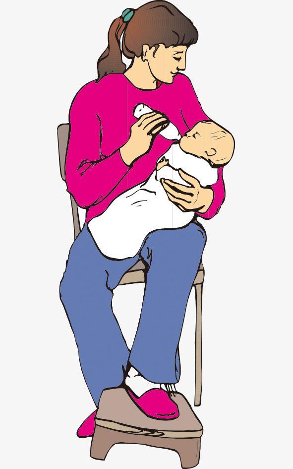 Feeding baby clipart clipart library stock المثال التوضيحي الأم يغذي الزجاجة | رسم وتلوين | Mother clipart ... clipart library stock