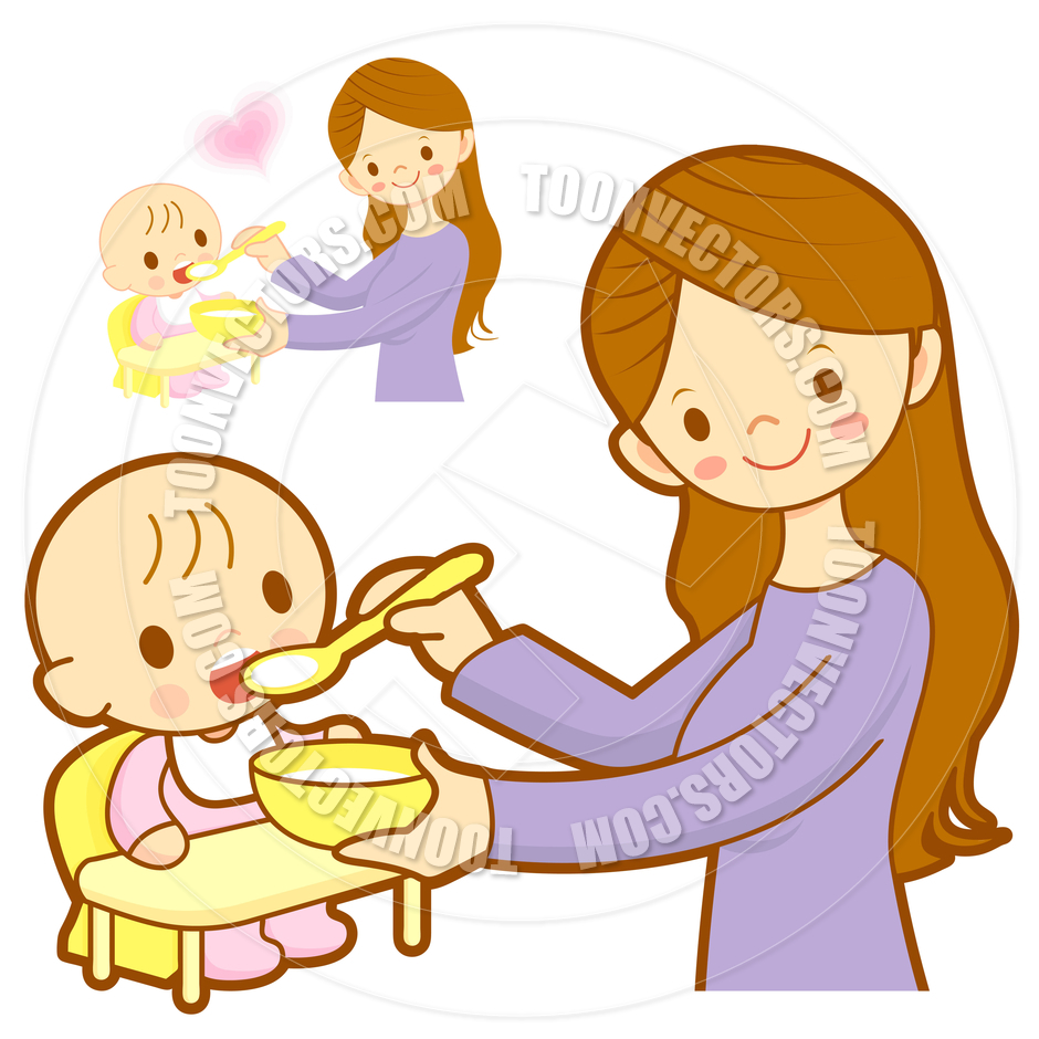 Feeding baby clipart banner black and white Mother Feeding Baby Clipart (61 ) - Free Clipart banner black and white