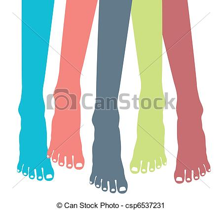 Feet clipart and stock picture transparent library Vector Clip Art of Colorful healthy feet vector. - Colorful ... picture transparent library