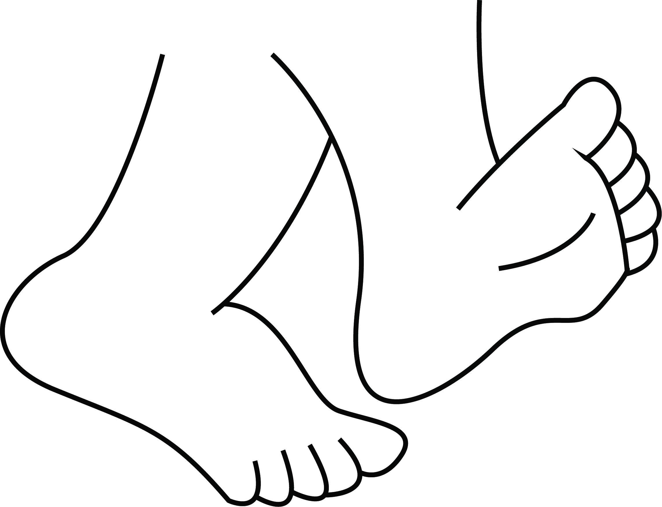 Feet on the ground clipart black and white graphic black and white library Feet Walking Drawing | Free download best Feet Walking Drawing on ... graphic black and white library