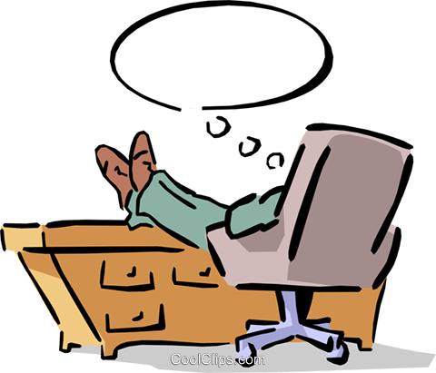 Feet up clipart svg library library man sitting at his desk with his feet up Royalty Free Vector Clip ... svg library library